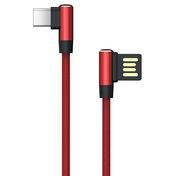 Akasa Reversible USB 2.0 A (M) to Right-Angled USB 2.0 C (M) 1m Red Retail Packaged Data Cable