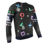 Playstation - Controller Symbols Unisex Christmas Jumpers X-Small