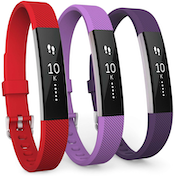 Fitbit Alta / Alta HR Strap 3-Pack Large - Red/Violet/Plum