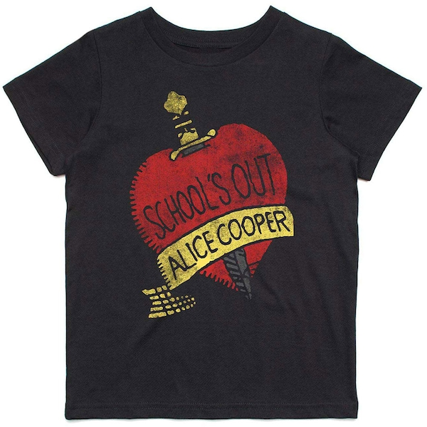 Alice Cooper - Schools Out Kids 5 - 6 Years T-Shirt - Black