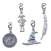 4 Charm Set Harry Potter- Dobby/Feather/Ministry of Magic/Sorting Hat