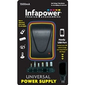 Infapower 1500mA 7-Way Universal Power Supply AC/DC Adaptor UK Plug