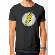 The Flash - Vintage Logo Men's Small T-Shirt - Black