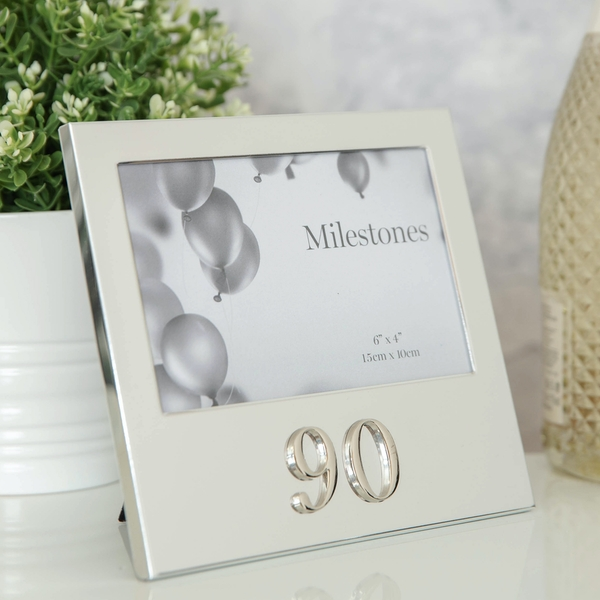 """6"""" x 4"""" - Milestones Birthday Frame with 3D Number - 90"""
