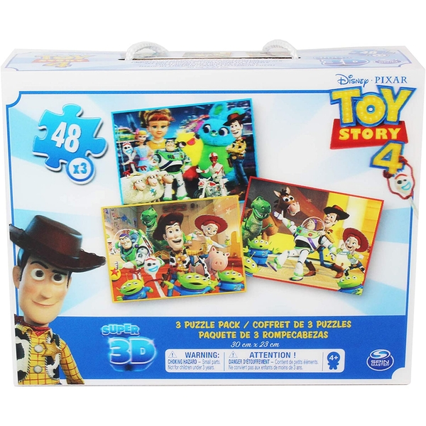 Toy Story 4 - 3 Puzzle PackSuper Super 3D (48pcs x 3)