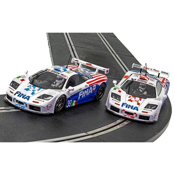 McLaren F1 GTR Fina Twin Pack Le Mans 1996 Limited Edition 1:32 Scalextric Car