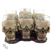 Six Shooter Skulls (Pack Of 6) Glasses