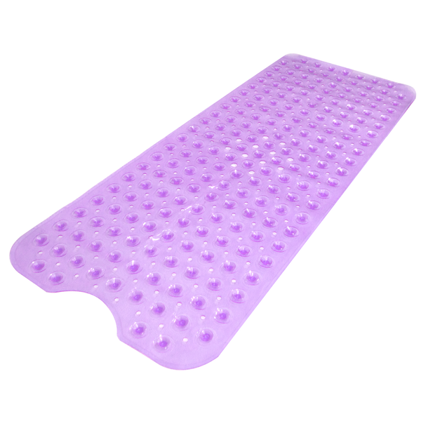Non-Slip Extra Long Bath & Shower Mat | Pukkr Purple