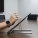 Portable Laptop & Tablet Stand | Pukkr Silver - Image 4