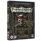 Ex-Display Disney Pirates of the Caribbean 1 to 4 Box Set DVD Used - Like New