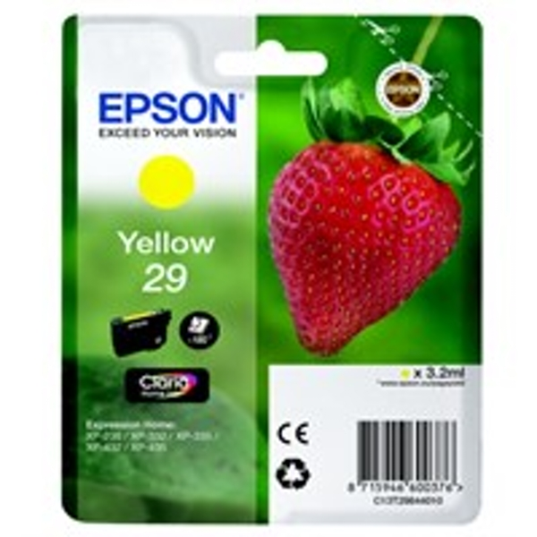 Epson C13T29844012 (29) Ink cartridge yellow, 180 pages, 3ml