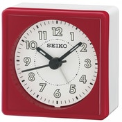 Seiko QHE083Q Analogue Bedside Beep Alarm Clock with Snooze Red