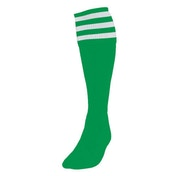 Precision 3 Stripe Football Socks Mens Emerald/White