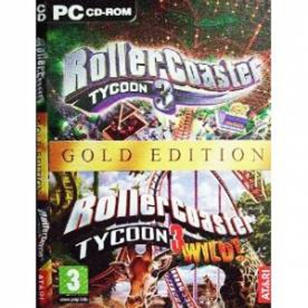Rollercoaster Tycoon 3 Gold + Wild Expansion Disk Game PC