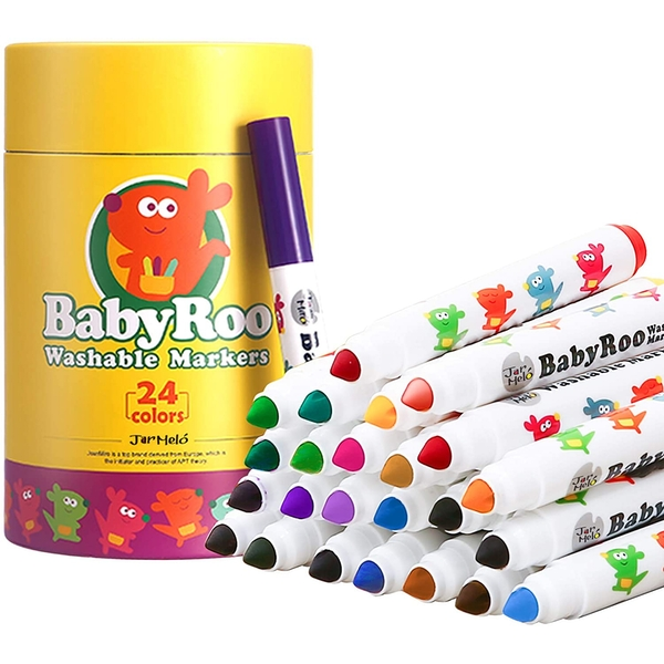 Baby Roo - 24 Coloured Washable Markers