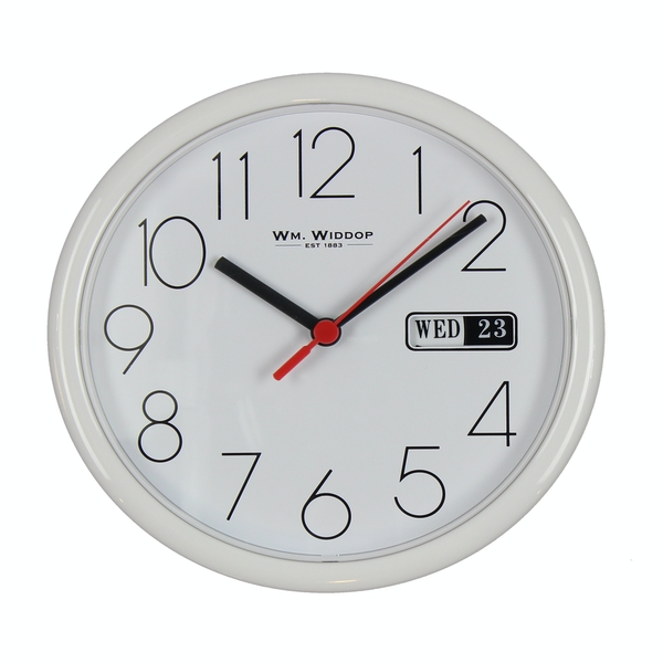 Wall Clock with Date - White