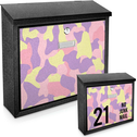 Pink Camouflage Printed Mail Box add your house number-name for a unique mail box!