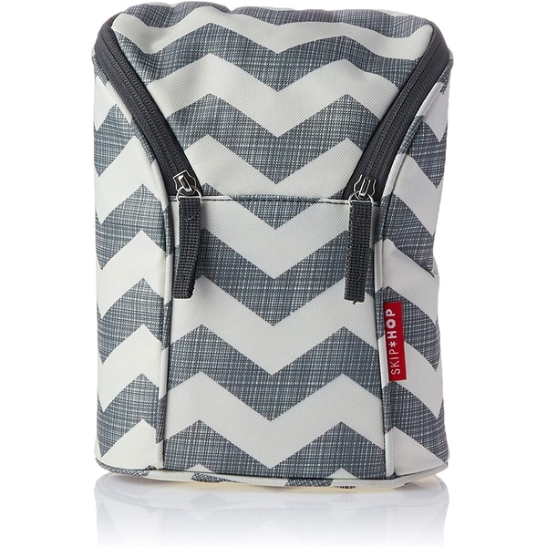 Skip Hop Grab & Go Double Bottle Bag (Chevron)