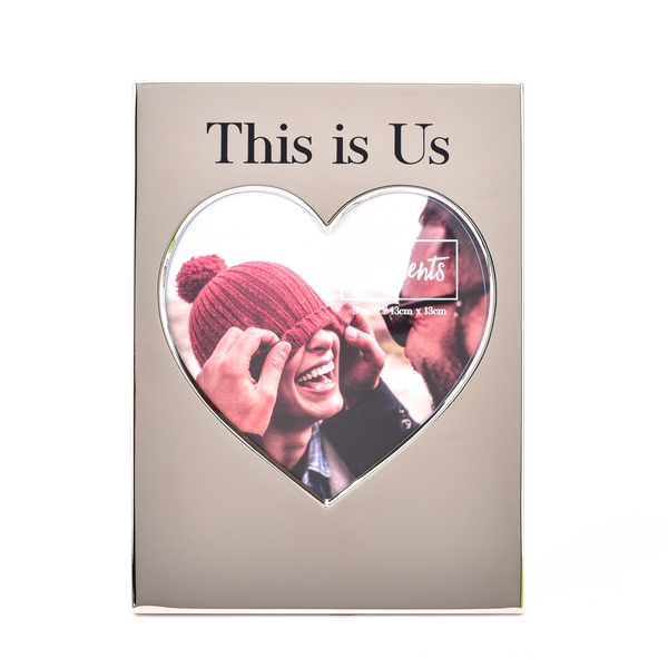 """Moments Silver Heart Frame 5"""" x 5"""" - This is Us"""
