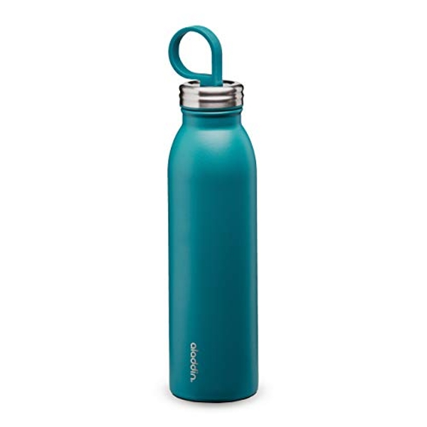 Aladdin Chilled Thermavac Stainless Steel Water Bottle 0.55L Aqua Blue
