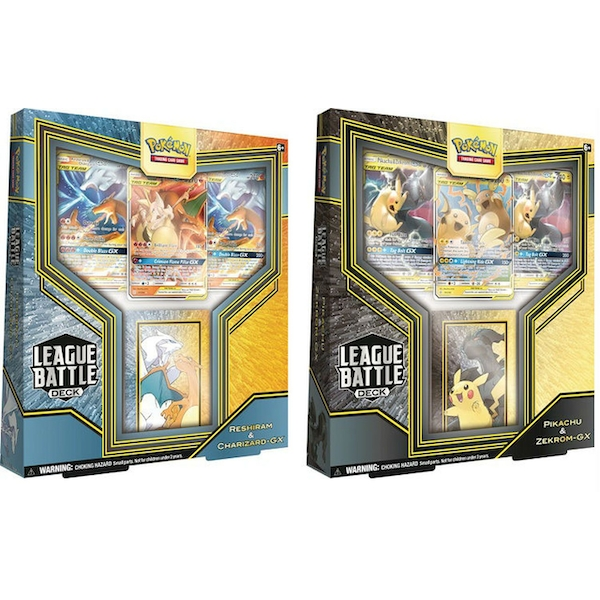 Pokemon TCG: Pikachu & Zekrom-GX  Or Reshiram & Charizard-GX League Battle Deck (1 At Random)