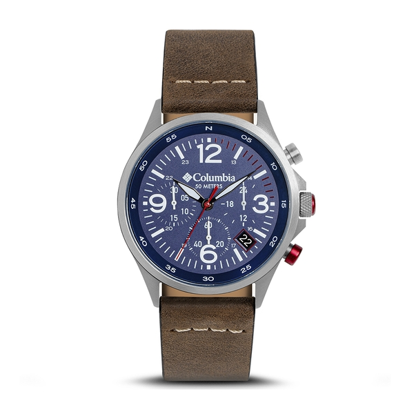 Columbia CSC02-005 Canyon Ridge Navy Chronograph Date Saddle Leather Watch