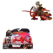 How To Train Your Dragon 2 Snotlout and Hookfang Figures