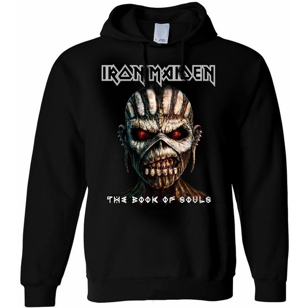 Iron Maiden - The Book of Souls Unisex Large Pullover Hoodie - Black