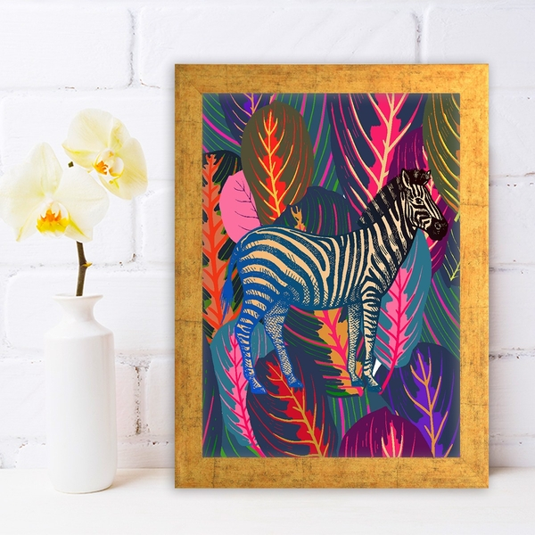 AC1262311192 Multicolor Decorative Framed MDF Painting