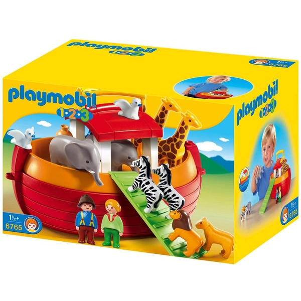 Playmobil 1.2.3 My Take Along Noah's Ark Playset [Damaged Packaging]