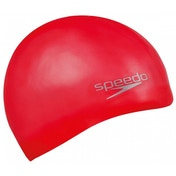 Speedo Moulded Silicone Caps Senior Red