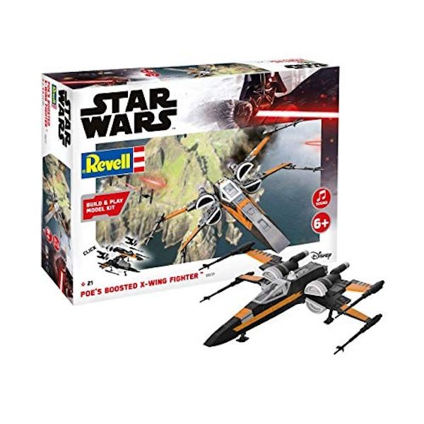 Poe's Boosted X-Wing Fighter (Build & Play) Revell Model Kit