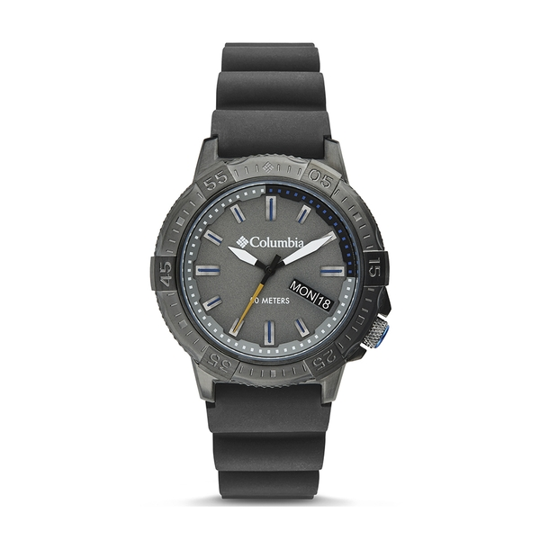Columbia CSC03-003 Peak Patrol Grey 3-Hand Day Date Grey Silicone Watch