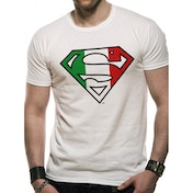 Superman - Italian Flag Men's Small T-Shirt - White