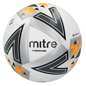 Mitre Ultimatch Max Match Ball White/Silver/Orange - Size 5