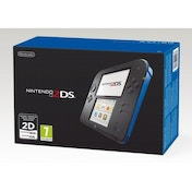 Nintendo 2DS Handheld Console Blue & Black UK Plug