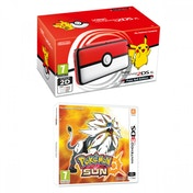 Nintendo 2DS XL Handheld Console Pokemon Pokeball Edition + Pokemon Ultra Sun