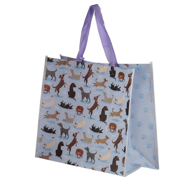 Catch Patch Dog Design Durable Reusable Shopping Bag