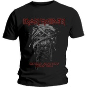 Iron Maiden - World Slavery 1984 Tour Men's Large T-Shirt - Black