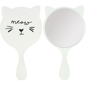 White Cat Mini Handheld Mirror
