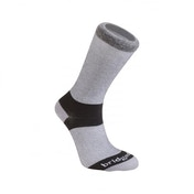 Bridgedale Everyday Outdoors Coolmax Liner Twin Pack Men's Sock Grey Medium