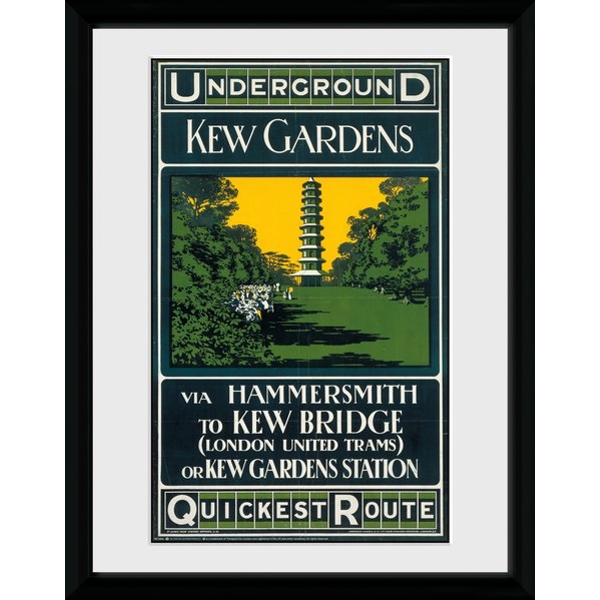 """Transport For London Kew Quickest Route 12"""" x 16"""" Framed Collector Print"""
