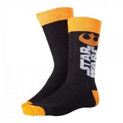 Star Wars The Force Awakens Adult Male Resistance Logo Crew Socks 43/46 (Black)