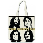 The Beatles - Four Heads with Gold Logo Tote Bag