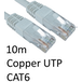 RJ45 (M) to RJ45 (M) CAT6 10m White OEM Moulded Boot Copper UTP Network Cable - Image 2