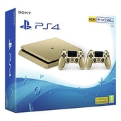 PlayStation 4 Slim D-chassis (500GB) Gold Console with 2 Controllers