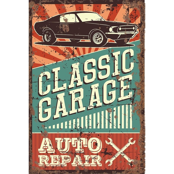 Vintage Metal Sign Classic Garage Auto Repair