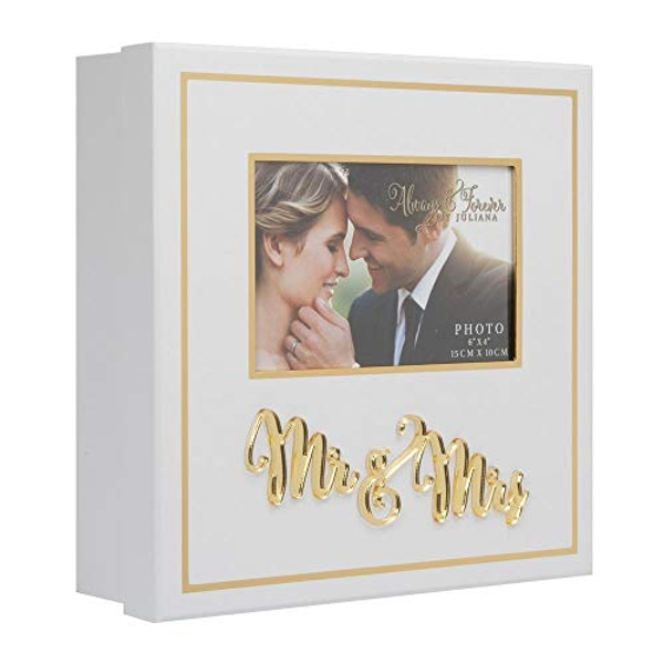 Always & Forever White and Gold Keepsake Box Mr & Mrs