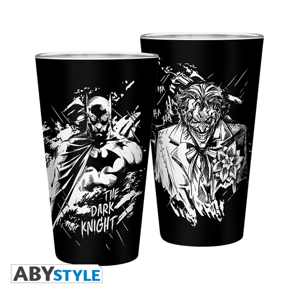Dc Comics - Batman & Joker - Large Glass