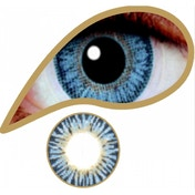 Diamond Blue 1 Day Coloured Contact Lenses (MesmerEyez Blendz)
